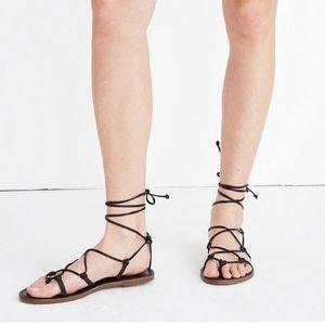 NWOT Madewell Boardwalk Lace Up Sandal